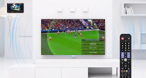 Menu du mode Foot des Smart TV de Samsung
