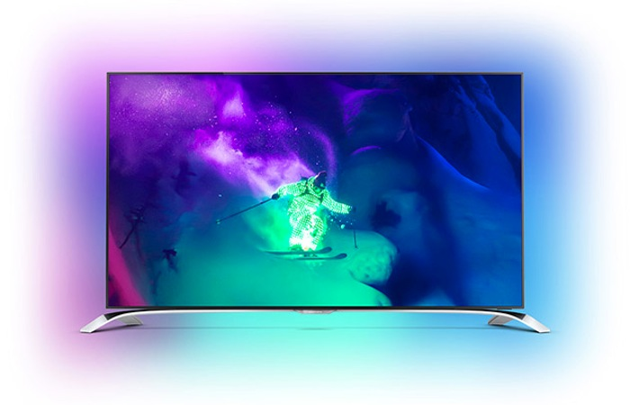 phillips devoile smart tv ultra hd k ecran incurve  pouces