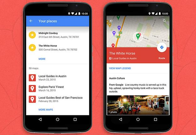 Nouvelle version de Google Maps sur Android
